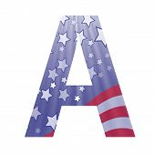 American Flag Letter A
