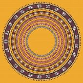 set of round geometrical frames, circle border ornament, vector