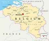 pic of gents  - Belgium Political Map with capital Brussels - JPG