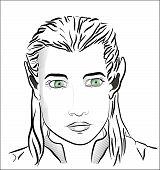 Green-eyed Beautiful Elf Man