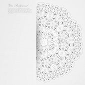 Vector Elegant background with lace ornament .