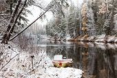 First Snow On The Forest River