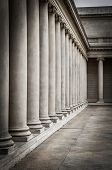 pic of legion  - Columns in the courtyard of the Palace of the Legion of Honor - JPG