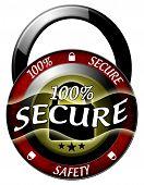 100 Secure Padlock Icon