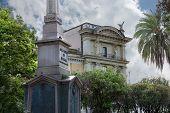 Obelisk  Dogali ( Obelisco Di Dogali ) In Park On Street  Via Delle Terme Di Diocleziano In Rome, It