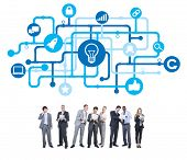 Group of Business People with Light Bulb