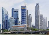 Singapore city skyline at day asia famous downtown