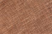Closeup of a natural burlap texture for the background