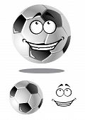 Happy cartoon soccer or football ball