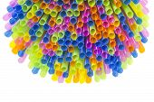Colorful Straws Background