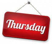 thursday next day schedule concept for appointment or event in agenda