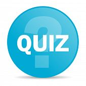 stock photo of quiz  - quiz internet icon  - JPG