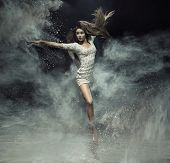 foto of fine art portrait  - Fine art photo of a beautiful girl dancing - JPG