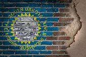 Dark Brick Wall With Plaster - South Dakota