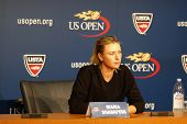 Five times Grand Slam champion Mariya Sharapova during press conference before  US Open 2014