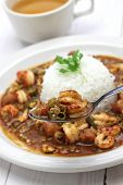 stock photo of crawfish  - gumbo with crawfish - JPG
