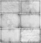 old papers collection, gray backgrounds