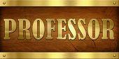 Vintage Door Plate, Professor