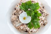 Chicken Salad With Eggs, Peas And Herbs