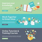 Постер, плакат: Flat design vector illustration concepts for education