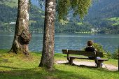 Relaxation at Zeller Lake, Zell am See, Austria, Europe