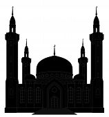 Silhouette Of Mosque