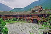 Oil Painting Stylized Photo Of  Tibetan Monastery In Kanding China, Oil Paint Stylization