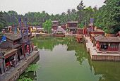 Fragment Of The Summer Palace Complex, Beijing, China, Oil Painting Stylized Photo