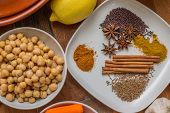 Moroccan Spices And Chick Peas