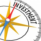 Compass With Investment Word