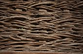 pic of willow  - A woven willow wicker fence panel suitable for crafts - JPG