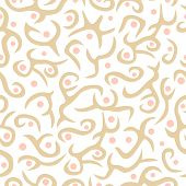 Seamless plant pattern in colours buff and pink
