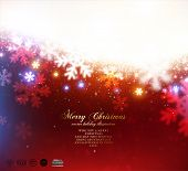 Red Christmas Snowflakes Blurred Background, vector