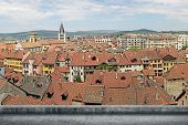 pic of annecy  - Annecy cityscape with red roof of traditional houses under sky in France - JPG