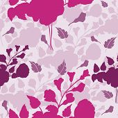 Seamless Of Stylized Flowers Blooming