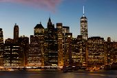 beautiful view of new york city at sunset