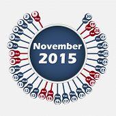 Vector calendar 2015 November template