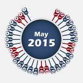 Vector calendar 2015 May template