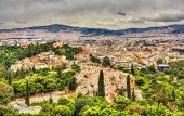 image of nymph  - View of the Hill of the Nymphs in Athens Greece - JPG