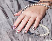 Closeup Of Trendy extravagant Nails