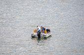 Fishing From A Boat At Gordons Bay