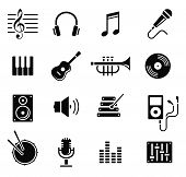 music and multimedia icons, vector