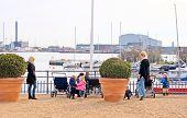 Denmark. Copenhagen. Women with children