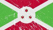 stock photo of burundi  - Flag of Burundi with old texture - JPG