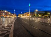 Massena Place In The Morning, Nice, France