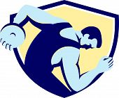 Discus Thrower Side Shield Retro