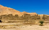 Walls Of The Madinet Habu Temple On The West Bank Of The Nile - Egypt