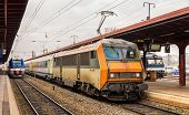 picture of gare  - Regional express train in Alsace  - JPG