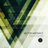 Vintage triangular background. Vector illustration