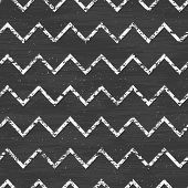 Chalk chevron blackboard seamless pattern background